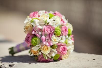 Schone Hochzeit Bouquet Von Frischen Rosa Rosen Braut Blumen