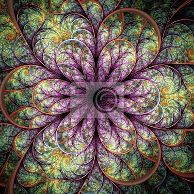 Schöne Muster der Blätter. Computer generierte Grafiken.