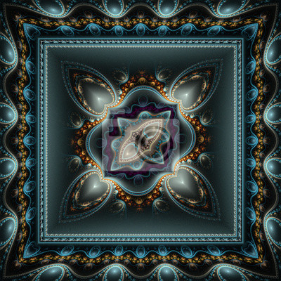 Schöne Muster der Herzen in den Rahmen. Computer generierte gra