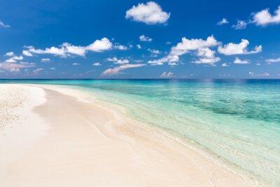 Sticker Schöne Ozean Strand auf den Malediven