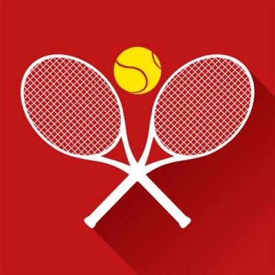 Sticker Schöne Tennis-Symbol