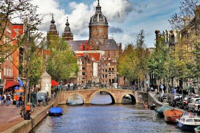 Sticker schönen Grachten von Amsterdam