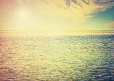 Sticker Schöner Himmel und blaues Meer