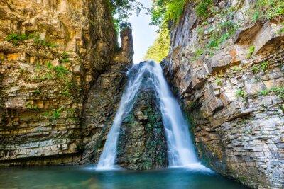 Sticker Schöner Wasserfall im Wald