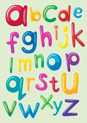 Sticker Schriftart mit englischen Alphabeten