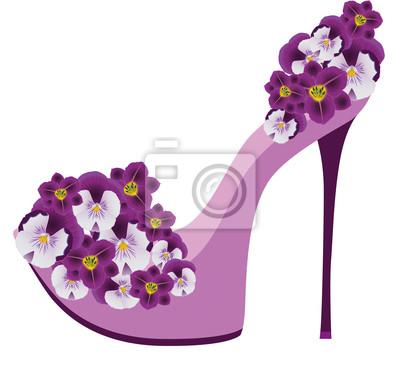Schuhe von Blumen. Vektor