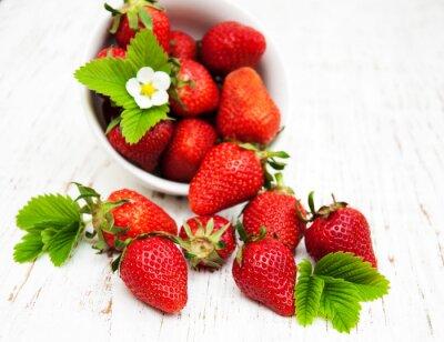 Sticker Schüssel mit Erdbeeren