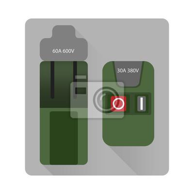 Schutzschalter, schalter, schaltkreis, elektrische steuerung ...