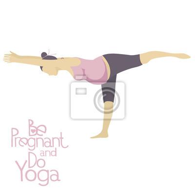 Schwangere Frau, die Yoga