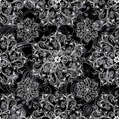 Schwarz nahtlose Muster