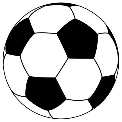 Sticker schwarz-weiß fooball - einfache Vektor-Illustration