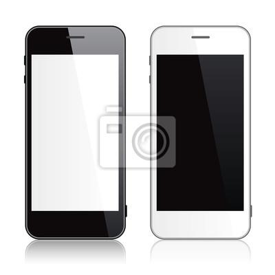 Schwarz-Weiß-Smartphone