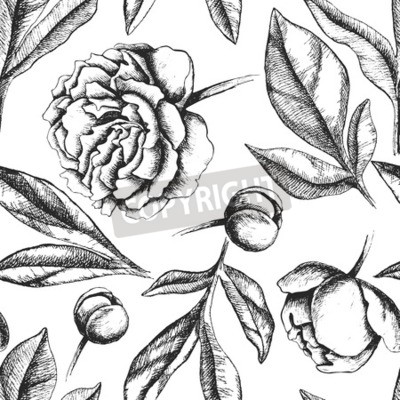 Schwarz Weiß Tinte Vektor Illustration Groß Für Wedding Einladung