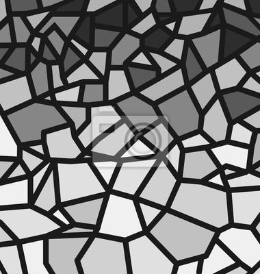 Schwarzes und weißes Trencadis-Muster