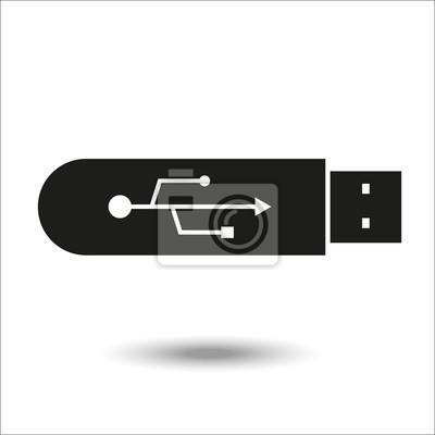 Schwarzes USB-Blitz-Antrieb