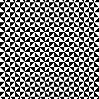 Sticker Schwarzweiss-Dreiecksmuster