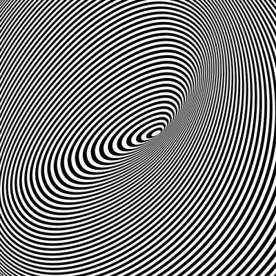 Sticker Schwarzweiss-Kunst-Hintergrund Opt