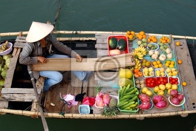 schwimmenden Markt in Vietnam