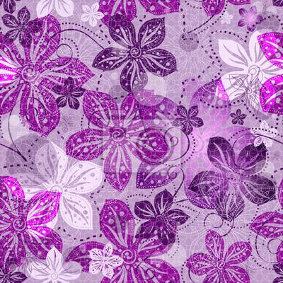 Seamless floral grauen Muster