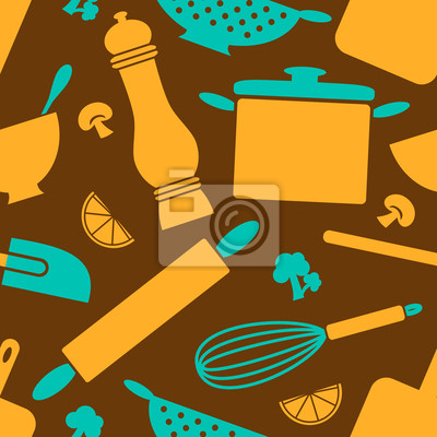 Seamless Pattern Küche
