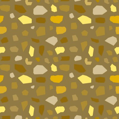 Seamless Terrazzo texture pattern gold vintage colors