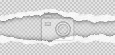 Sticker seamless torn paper edges, vector illustration