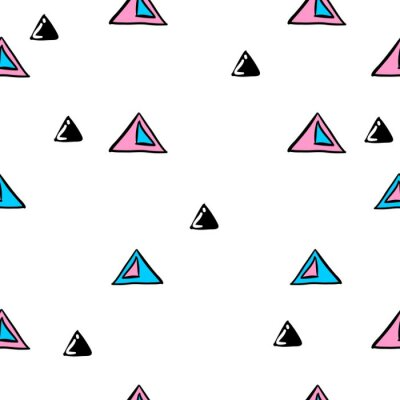 Seamless triangle abstract seamless pattern.