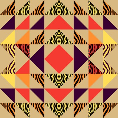 Seamless triangle pattern abstract background with geometric texture memphis pastel trendy.