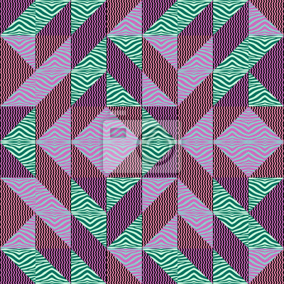 Seamless triangle pattern autumn abstract background with geometric texture memphis pastel trendy.