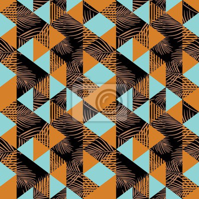 Seamless triangle pattern with feminine colors