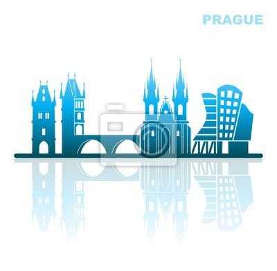 Sehenswürdigkeiten Prag. Abstrakte Landschaft