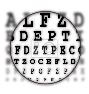 Sehtest Buchstaben Tafel