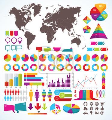 Set Elemente für Infografik