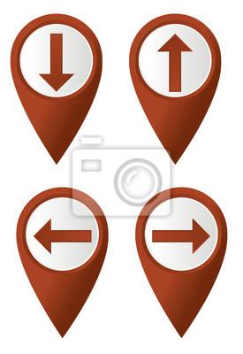 Set Karte Zeiger mit Pfeilen