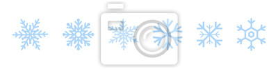 Sticker Set of blue Snowflakes icons. Black snowflake. Snowflakes template. Snowflake winter. Snowflakes icons. Snowflake vector icon