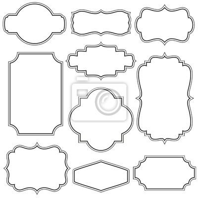 Sticker Set of decorative vintage frames