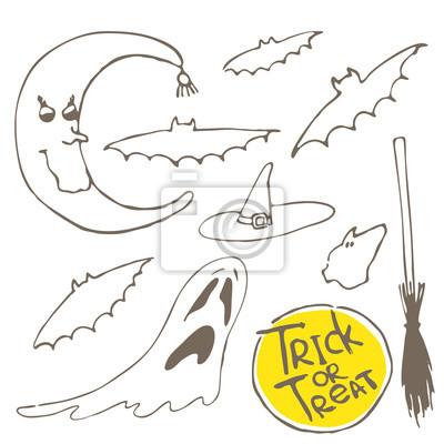 Set of vector halloween design elements
