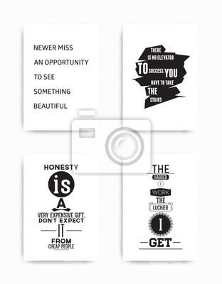 Set Plakate Zitat