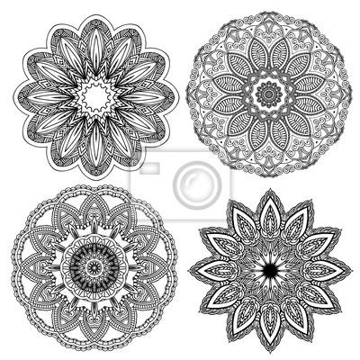 Set von floralen Elementen. Lace Blumen