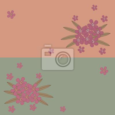 Set von floralen Grußkarten