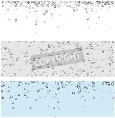 Sticker Set von Hintergründen mit Blasen. Vektor Wasser Illustration.