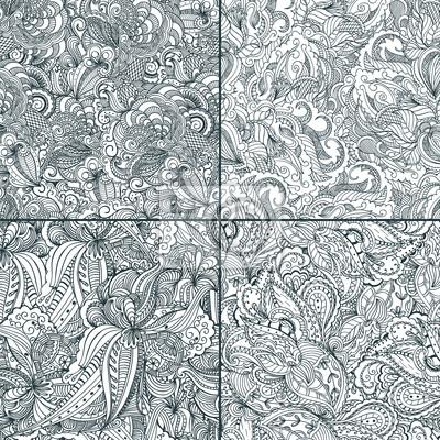 Set von nahtlosen gemusterten backgrounds.Two-Ton-Design