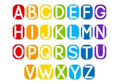 Sticker Set von Vektor-Buchstaben für Ihr Design