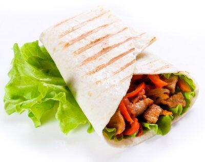Sticker Shawarma im Fladenbrot