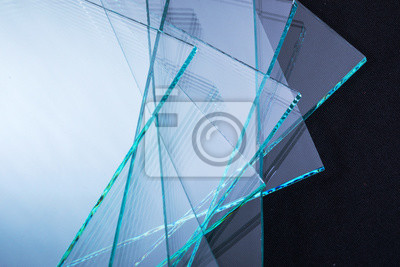 Sticker Sheets of Factory manufacturing tempered clear float glass panels cut to size