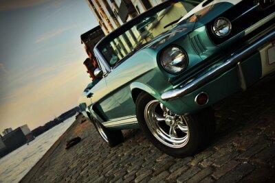 Sticker Shelby Replik des Mustang 350 in der untergehenden Sonne
