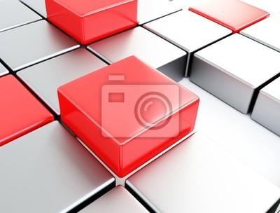 Silber und rote Würfel