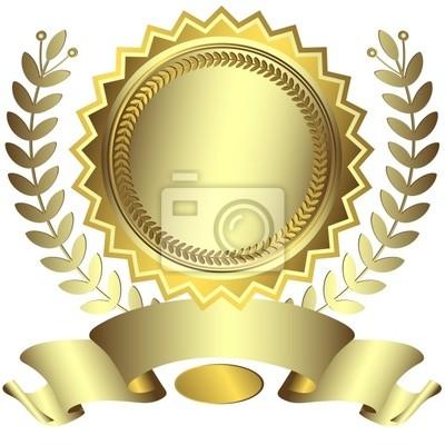 Silbrig Award mit Band (Vektor)