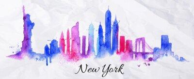 Silhouette Aquarell New york