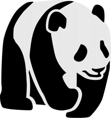 Sticker Silhouette eines Pandas